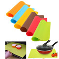 1Pcs Silicone Mats Baking Liner Best Silicone Oven Heat Insulation Pad Bakeware Non-stick Thick Pad Kid Table Mat