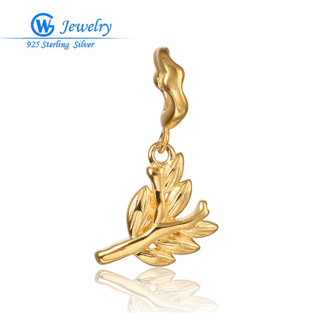 European Immemorial Jewelry Gold Plated Pendant Sterling Silver Charms Fit Bracelets & Necklaces Gw Fine Jewelry S416H50