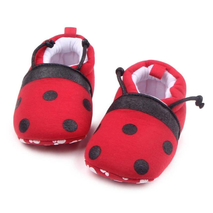 Newborn Shoes Soft and Comfortable Lovely Toddler First Walkers Baby Shoes Round Toe Flats Soft Slippers Shoes #20