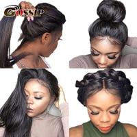 Gossip Hair 13x6 Lace Front Wig Brazilian Straight 360 Lace Frontal Wig Lace Front Human Hair Wigs For Black Women 360 Lace Wigs