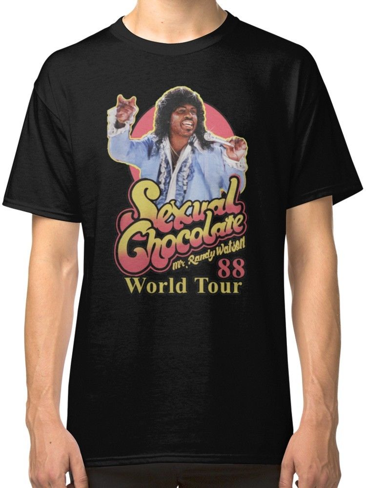 Buy Sexual Chocolate Mr Randy Watson World Tour 88 Black T-Shirt Tees Clothing