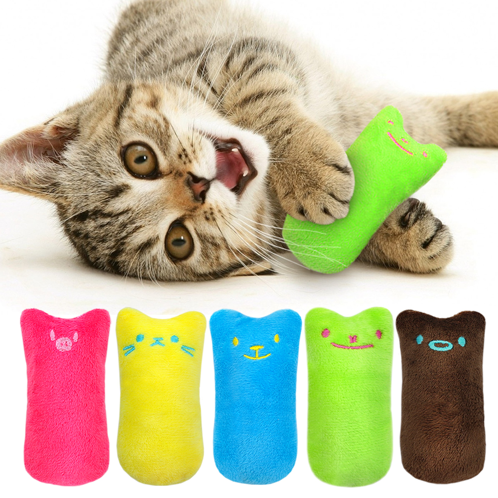 Funny Interactive Plush Cat Toy Pet Kitten Chewing Toy Teeth Grinding Catnip Toys Claws Thumb