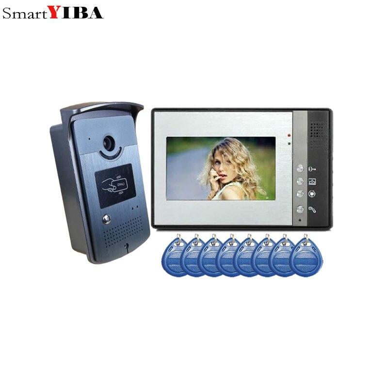 SmartYIBA 7 Inch Video Doorbell Door Viewer Home Security Camera Monitor Intercom System Doorbell Entry Kit