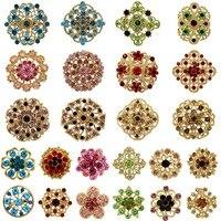 WEIMANJINGDIAN много 24 шт. смешанные DIY Свадебные букеты цветок брошь булавки набор в золото или серебро Цвета
