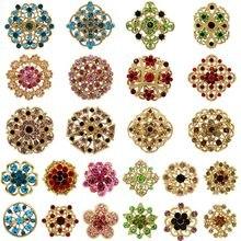 WEIMANJINGDIAN marka fabrika doğrudan satış çok 24 adet karışık çiçek broş Set DIY düğün buketleri için aksesuarları pimleri