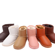 Fashion 2016 Hot Sale LANSHITINA Women's Snow Boots cotton shoes Flats Round Toe Female Winter Boots