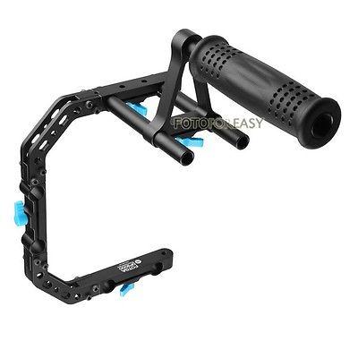 FOTGA DP3000 PRO C Shape Support Cage Bracket Top Handle for 15mm Rod DSLR Rig