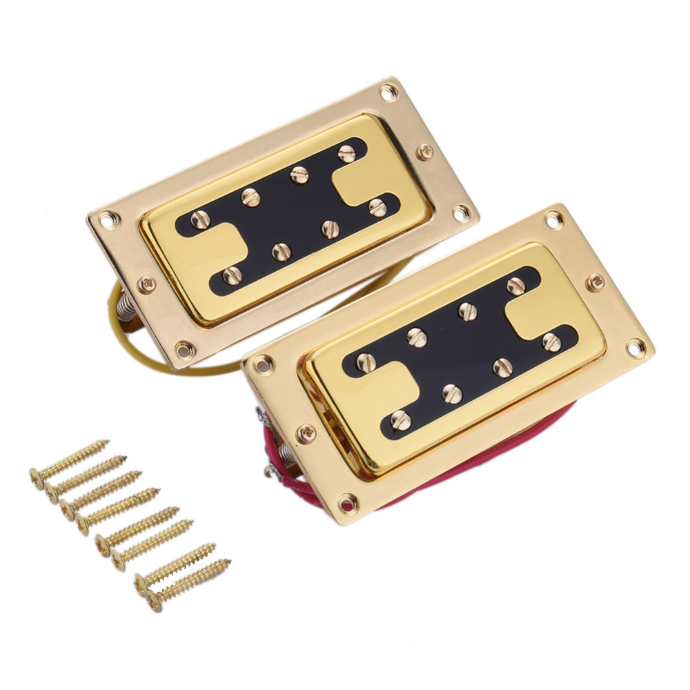Mini Pickup Guitar Humbucker Pickup Part 4 Strings Electric Guitar Or Bass Pickup 8 Double-row Adjustable Magnetic Column rocket hot sale dual hot rail single coil humbucker pickup 4 wire for electric guitar excellent guitar parts