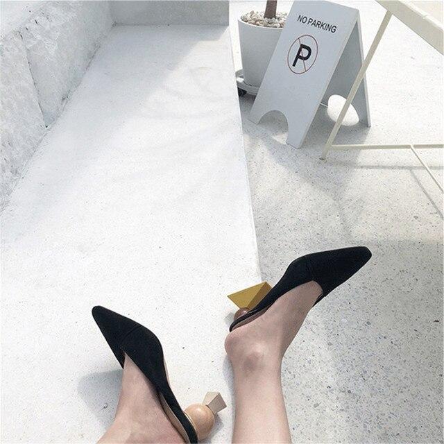 Individual Building Blocks Heel Mules Asymmetrical Strange Heel  1