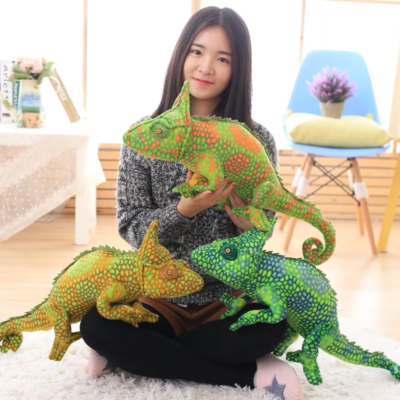 1pc 80cm Simulation Lizards Chameleon Plush Toys Creative Personality Animal Plush Pillow Toys For Children Birthday Gift