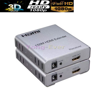 New 150M Balun HDMI Extender RJ45 CAT5E CAT6 CAT5E/6 1080P Transmitter Receiver 3D For Blue Ray DVD HDTV HDPC PS3 STB PC hdmi extender rj45