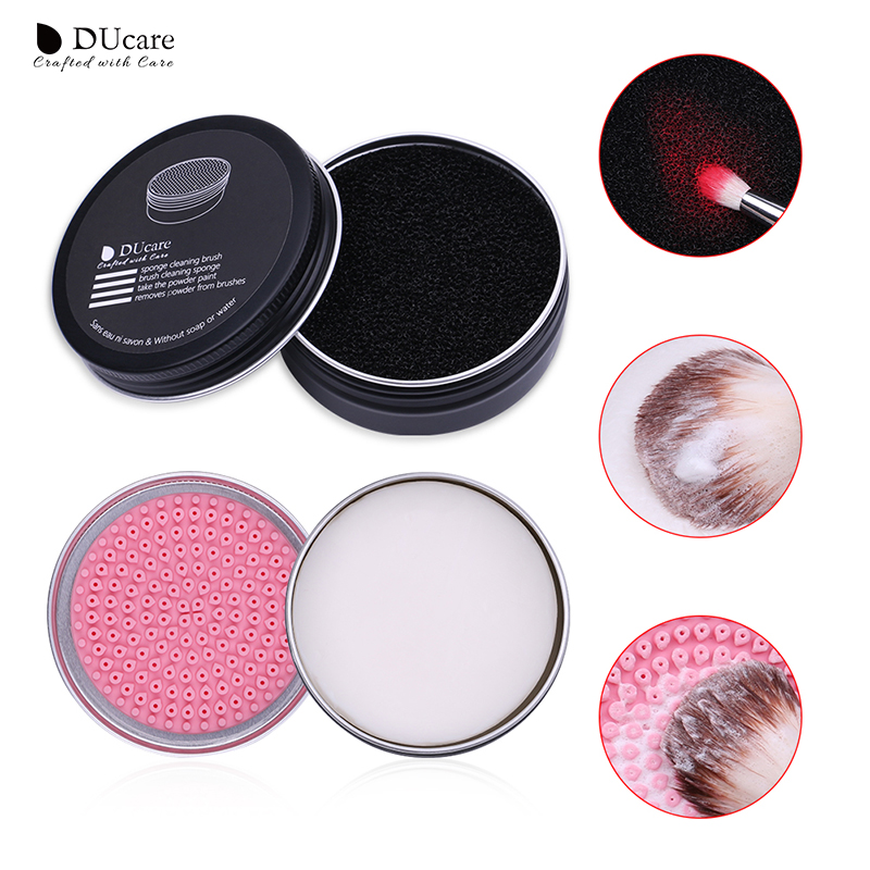 DUcare Makeup Brush Cleaner Sponge Powder Remover Soap Cleaning Washing Brush Silicone Pad Mat Box Make Up Cosmetic Tools 1pc cleaning cosmetic make up washing brush gel cleaner scrubber tool makeup cleaning mat pad tool wash plate scrub pad