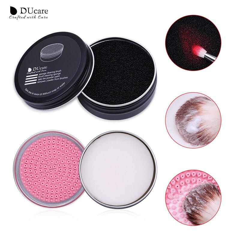 DUcare Sabão Removedor De Esponja Esponja de Pó de Maquiagem Pincel Limpo Escova de Lavagem de Limpeza de Silicone Pad Mat Caixa de Maquiagem Ferramentas de Cosméticos
