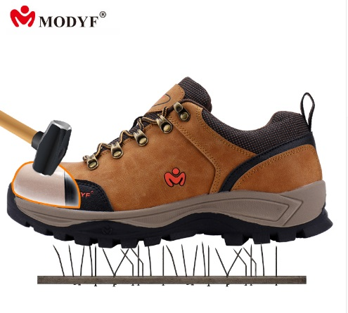 MODYF 2018 NEW Free shipping safety work steel to cap crash proof seed mesh lining breathable puncture proof inside sole shoes