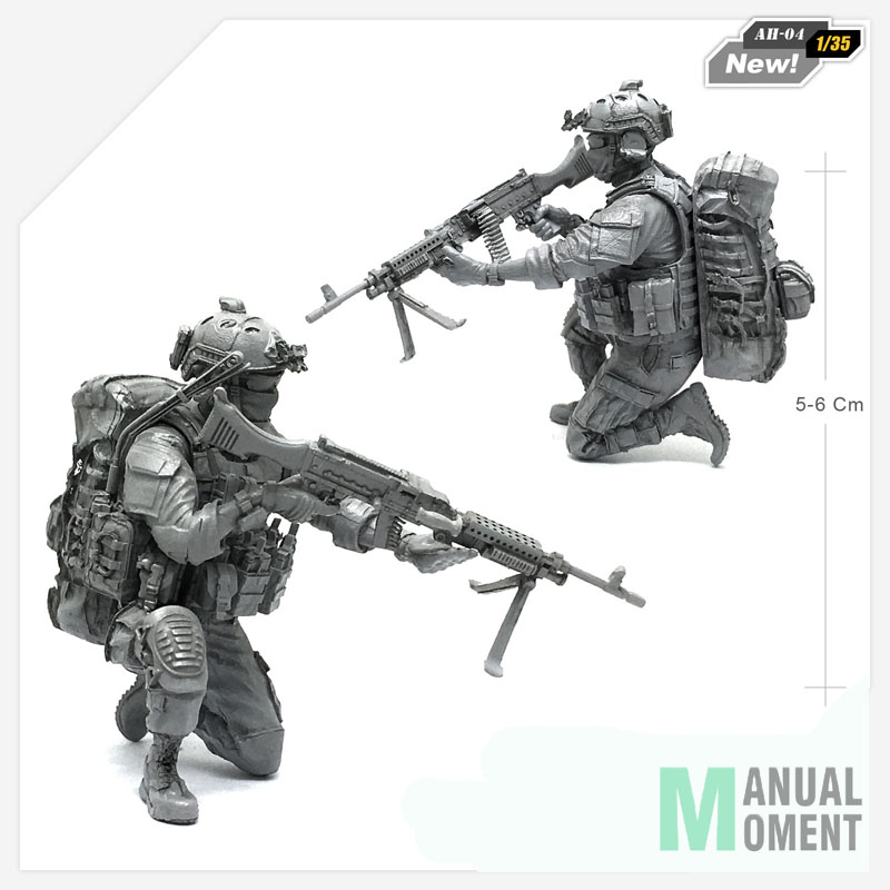 1/35 Modern U.s Army Special Forces Crouch Individual Soldier Resin Model Figure Kit Ah-04 Delicious In Taste