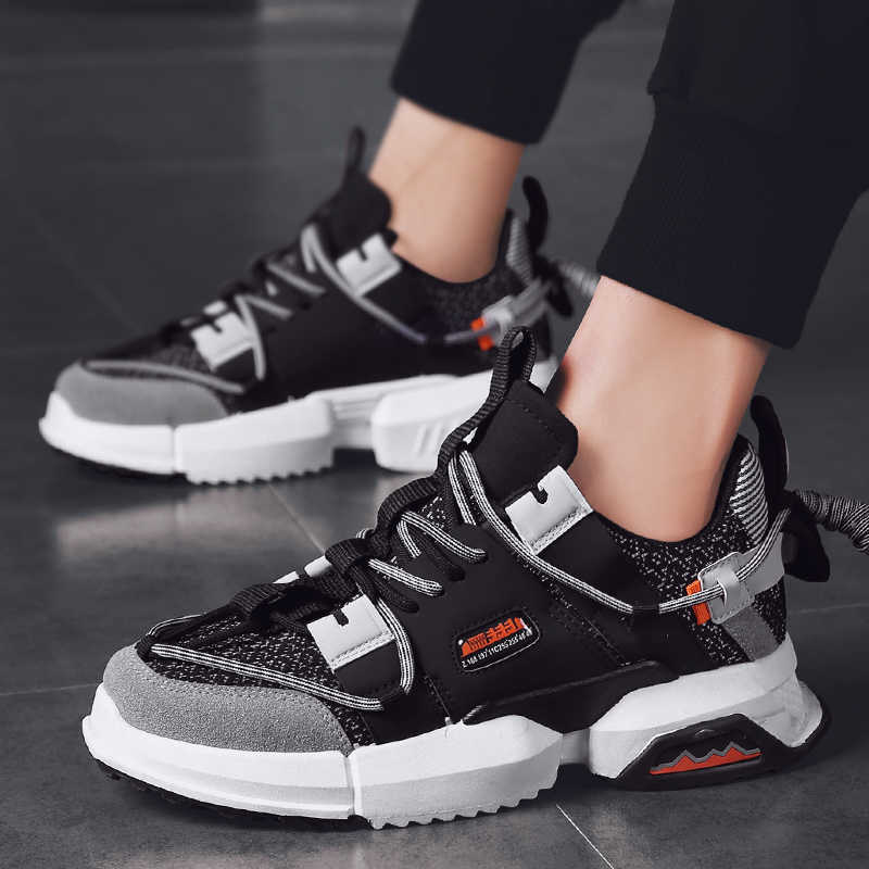 Neue Mesh Männer Casual Schuhe Lac-up Männer Schuhe Leichte Komfortable Atmungs Trainer Walking Turnschuhe Tenis Feminino Zapatos