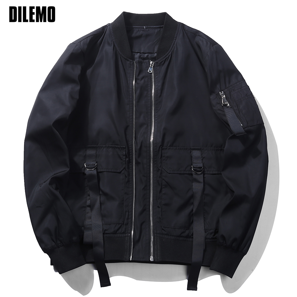 Eu Size 2018 New Fashion Brand Clothing Jacket Men Casual Double Zipper Coat Men Trend Pocket