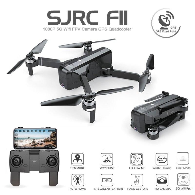 SJRC F11 GPS Quadcopter Zangão Com Wifi 1080 P FPV Brushless Câmera 25 minutos de Tempo de Vôo de Controle Gesto Dobrável Dron vs CG033