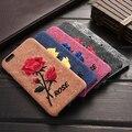 KISSCASE Цветы Case Для iPhone 6 6 S Элегантной Вышивкой Ручной Работы Роза Leather Case For iPhone 6 6 S 6 6 S Плюс Мобильный Телефон крышка