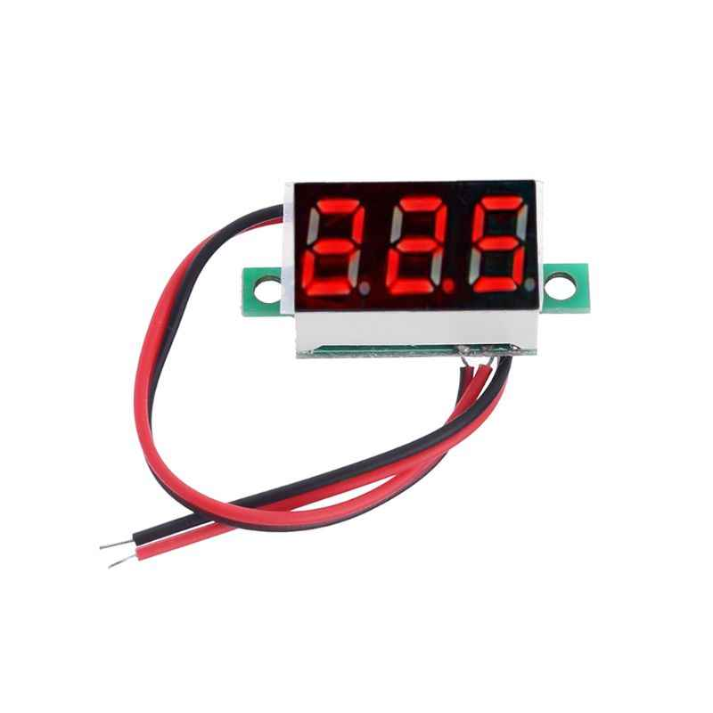 "0.36"" Digital Voltmeter DC 4.5-30V 2 Wires Red LED Display Panel Voltage Meter"