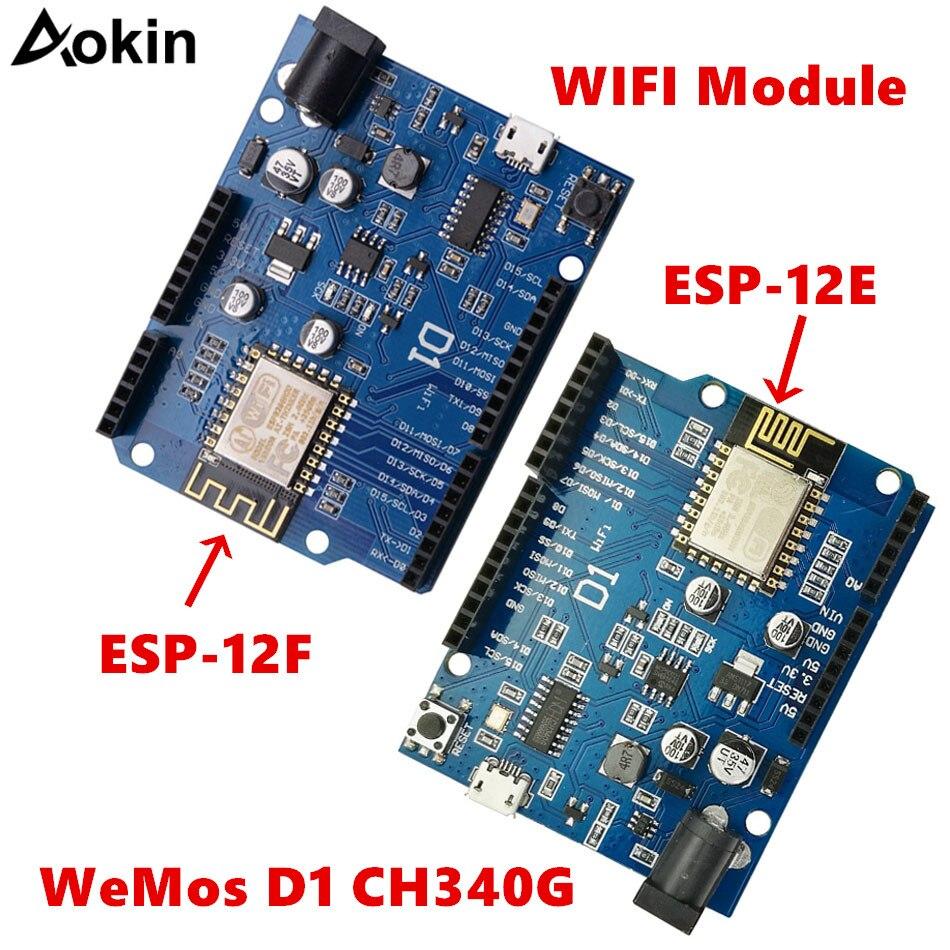 For WeMos D1 CH340 CH340G WiFi Development Board ESP8266 ESP-12F ESP-12E Module For Arduino IDE UNO R3 Micro USB ONE 3.3v 5v 1A