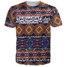 2017 New Retro Brand Clothing 3D Indians Boho Pattern T shirts O neck Short Sleeves Women t-Shirt Casual Tees TS250