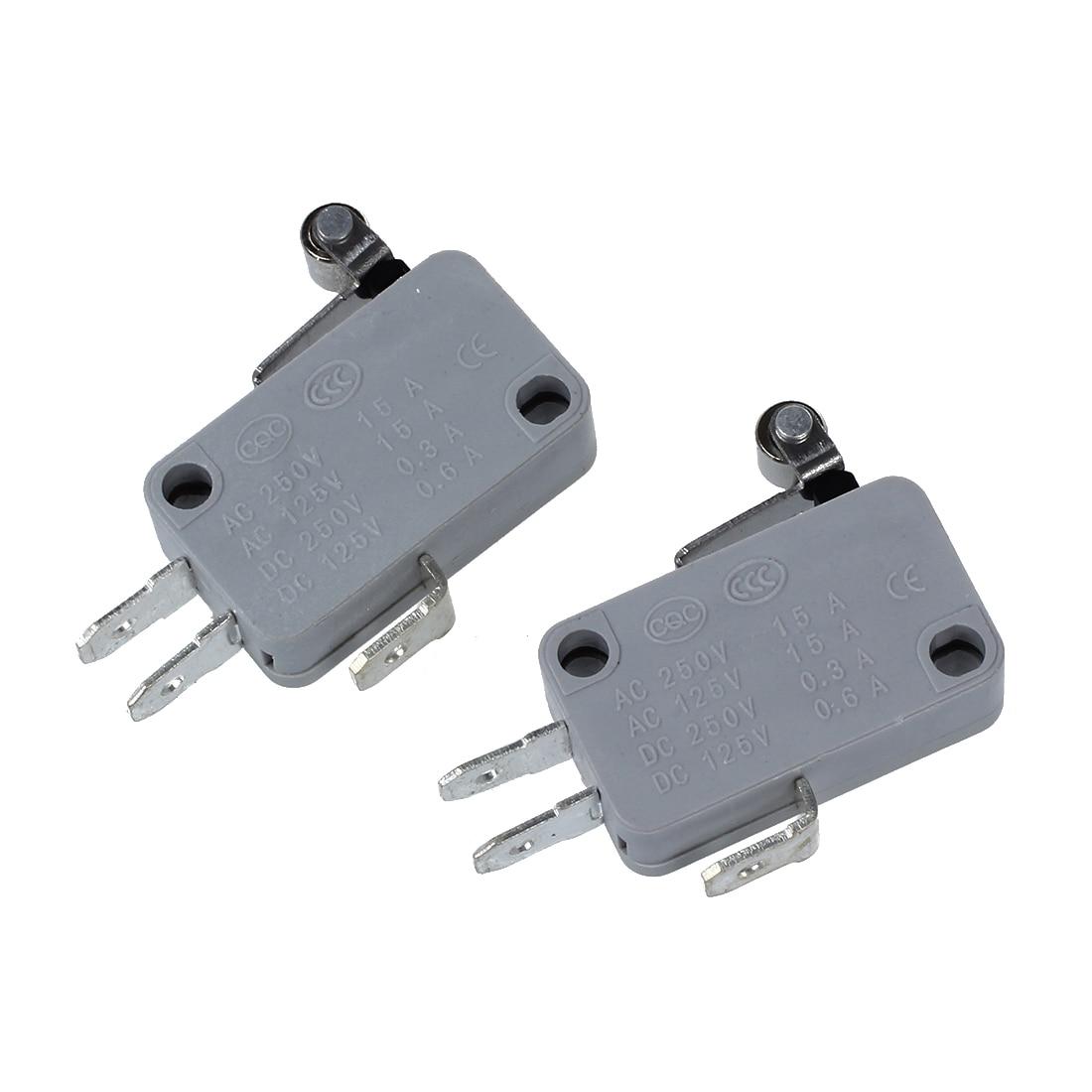 2 piezas de metal rodillo corto palanca del interruptor micro miniatura