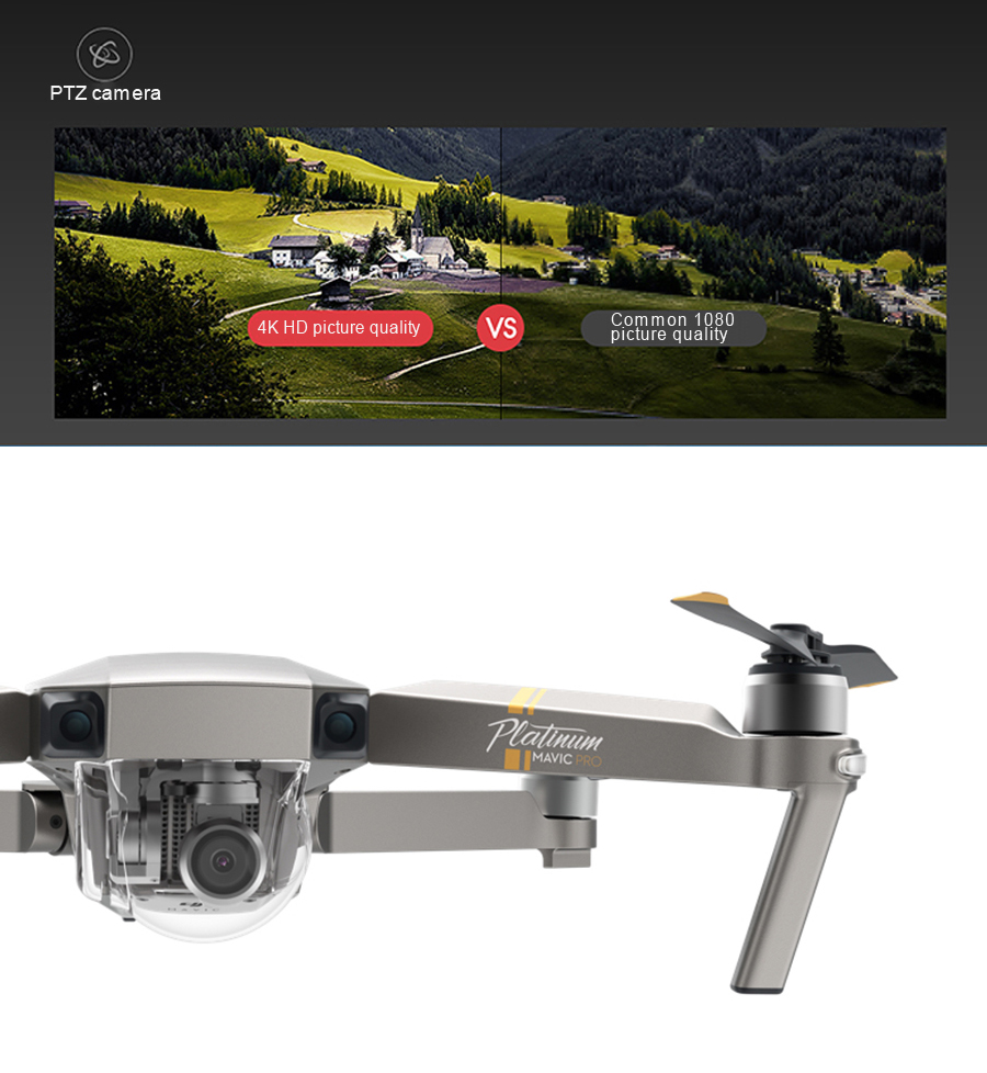 DJI Mavic Pro Platinum Fly More Combo & dji mavic pro quadcopter 12 mil. 4K HD Video Recording drone 7 KM Remote Control 30 mins_03