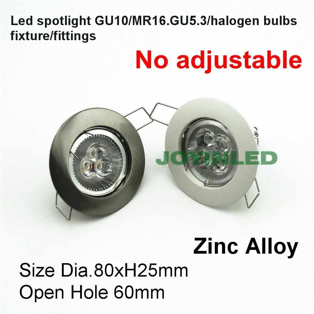 Gratis Pengiriman MR16 GU5.3 LED Spot Bingkai Langit-langit Tersembunyi Halogen Bulb Fitting DC12V MR16 2 Pin Halogen Bulb Pemegang Perlengkapan