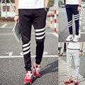 Calças dos homens Slim calça casual calças juventude