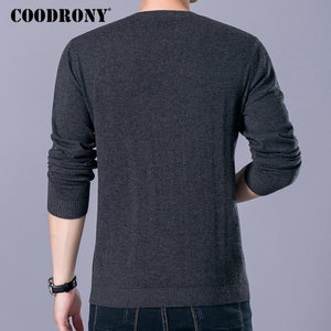 Image 2 - COODRONY Brand Sweater Men Zipper Collar Pull Homme Autumn Winter New 100% Merino Wool Sweaters Warm Cashmere Pullover Men 93006