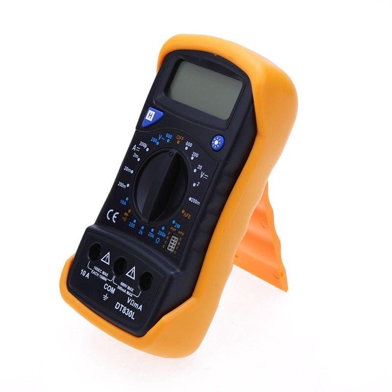 LCD multímetro digital amperímetro voltímetro ohmímetro handheld eléctrico multitester AC/DC voltios amperios ohm meter tester herramienta de diagnóstico