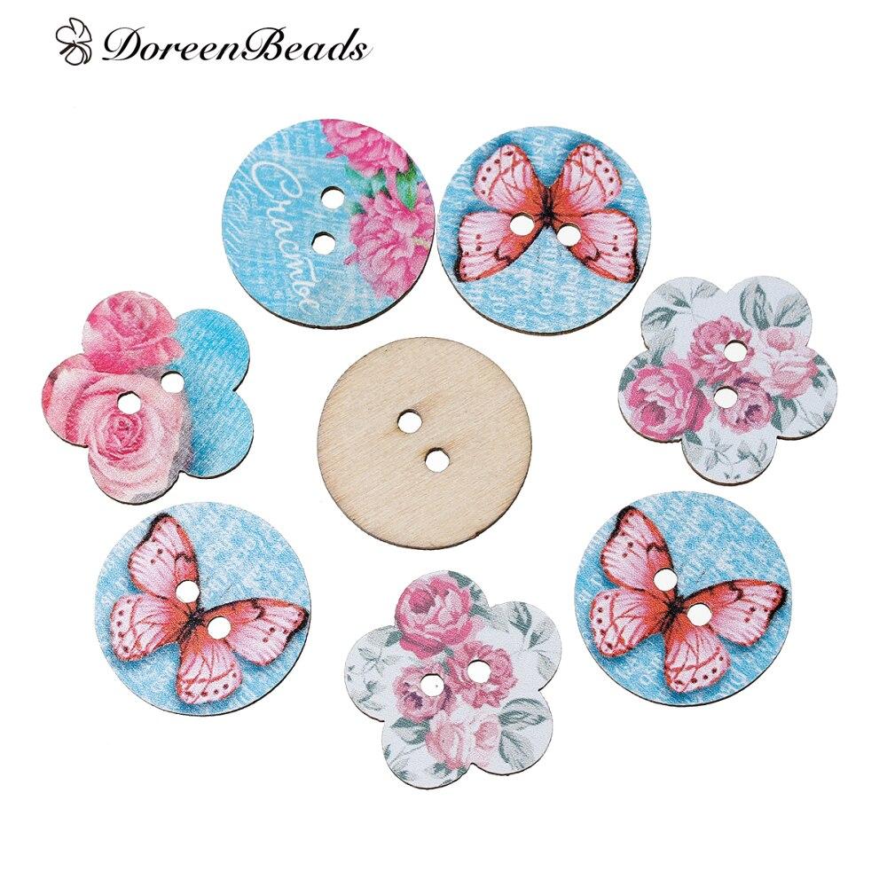 DoreenBeads Wood Sewing Button...