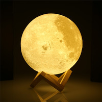 3D Print Moon Night Light Dimmable LED Night Lights 15CM 18CM 20CM Rechargeable Moon Lamp 2