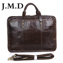 J.M.D 2017 New Arrival 100% Leather Briefcases Men's Cow Leather Messenger Shoulder Bag Handbags Travel Bags 7345