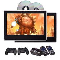EinCar 11.6 inch LCD Wide Screen Car Headrest DVD Player x2 Portable Gaming Monitor with HDMI Port Built in IR/FM Transmitter