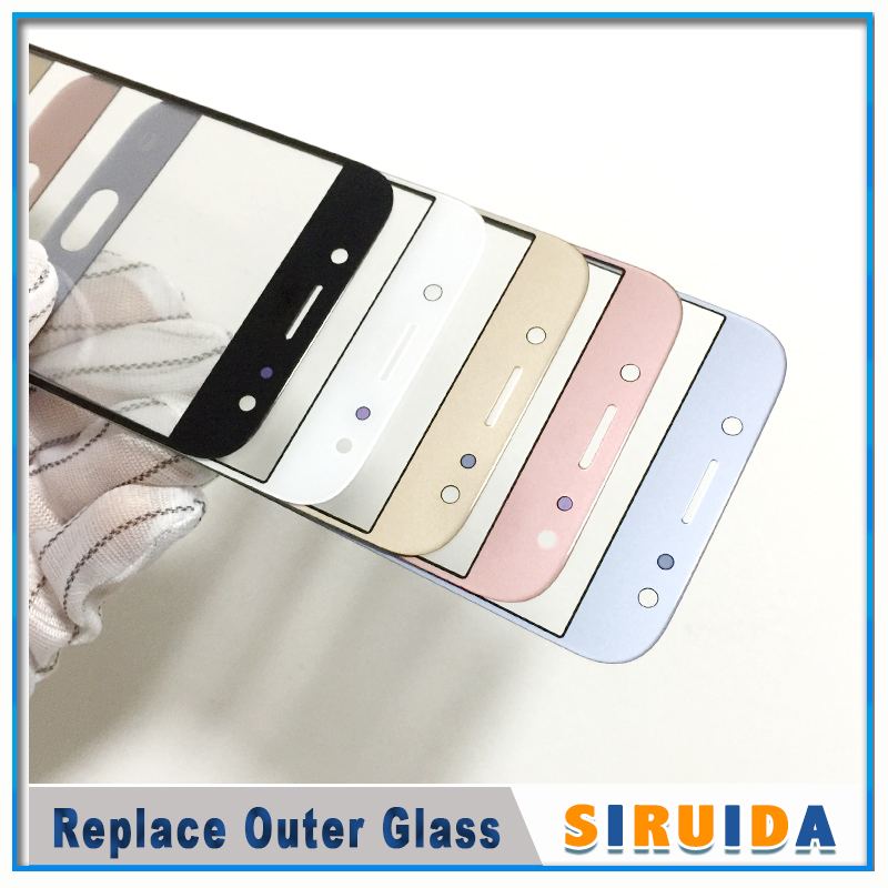 Image 2 - 5pcs LCD Front Outer Screen Glass Lens With OCA Glue For Samsung J330 J530 J730 J530F J5Pro J7pro J727 J3 J5 J7 J710 ReplacementPhone Screen Protectors   -