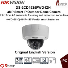 Hikvision Original English Version DS-2CD4535FWD-IZH 3MP 2.8-12mm Heater Smart IP CCTV Network Dome Camera 50m CCTV Camera