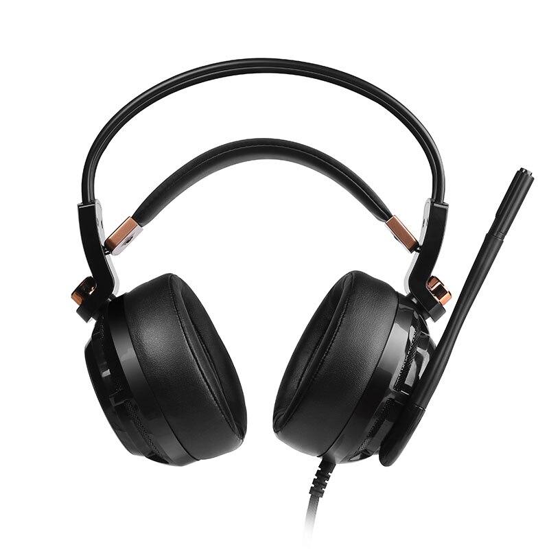 Somic G941 שדרוג USB 7 1 וירטואלי משחקי אוזניות פעיל רעש ביטול אוזניות עם  מיקרופון רטט
