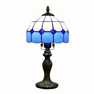 Image 5 - Mediterrane Decor Turkse Mozaïek Lampen E27 Gebrandschilderd Glas Lampenkap Slaapkamer Nachtkastje Vintage Tafellamp Verlichtingsarmaturen