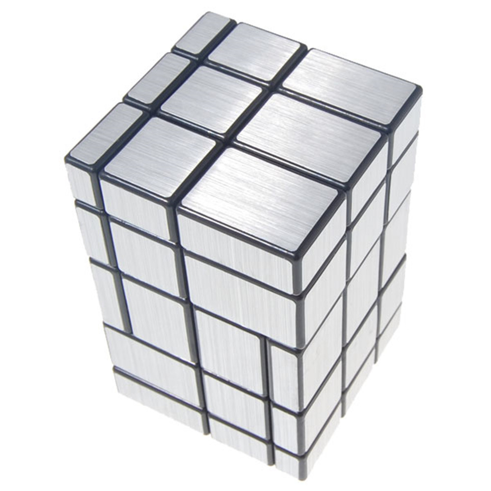 2017 New 3x3x5 Conjoined Mirror Magic Cube Black Silver Educational Toy Special Toys special educational needs provision