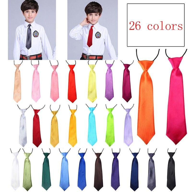1PC Kids Baby Boy Classic 26 Solid Color Adjustable Elastic Bowtie Children Neck Tie