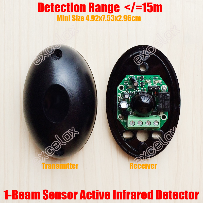 Beautiful Sensitivity Active Infrared Safety Detected Sensors Photoelectric Beam Detector For Automatic Gate Hardware Door Hardware & Locks