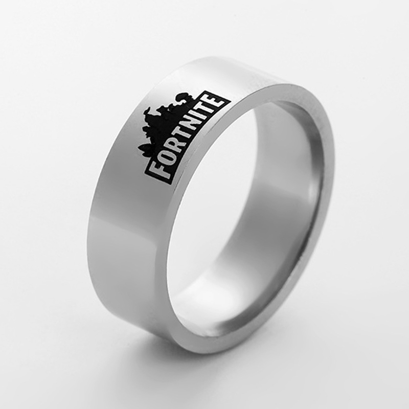 new FPS Game Fortnite ring Battle Royale Stainless Steel ring Laser Printing Personalized Jewelry Do not fade