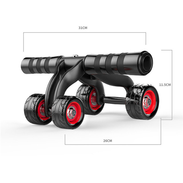 4 Wheels Push-up stand wheel Abdominal Exercise Push Wheel Fitness Training Equipment high quality ABS protection support  #2s13
