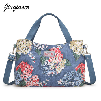 Women Travel Bags Colorful Flowers Large Capacity Women Hand Luggage Handbag Canvas Bags Mummy Handbag