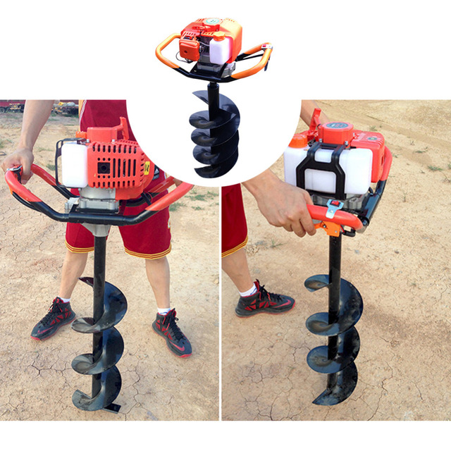 1900W Gasoline Power Post Hole Digger Ground Drilling Machine Earth Auger Ice Auger Digging Drill Power Tool Professional