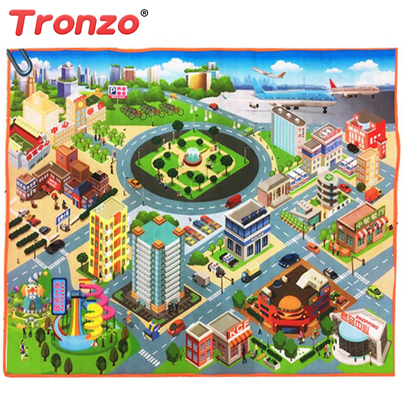 Tronzo 70*70cm Or 125*95cm Baby Traffic Play Mat City Road Carpets Baby Toys Rugs Develo ...
