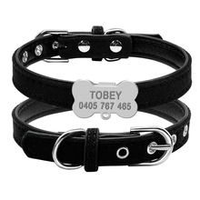 Dogs Cats Personalized Leather Collars with Free Engraving