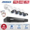 ANNKE HD 8CH 6MP NVR Network POE 1080P Video WDR VCA Security Camera System 1TB